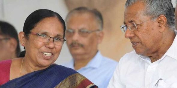 Kerala Health minister and Chief minister